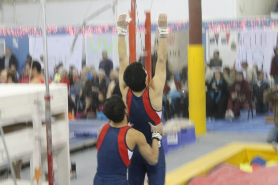 ...who couldn't lift each other onto high bar