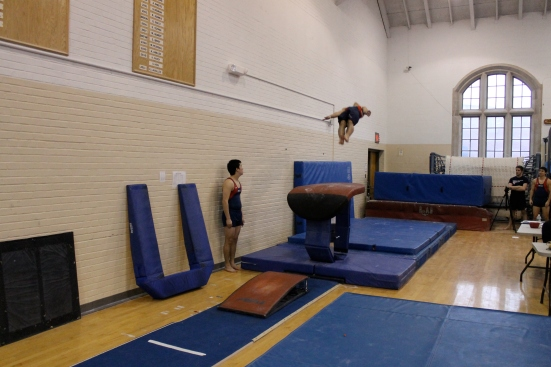 Bryan's second place vault.