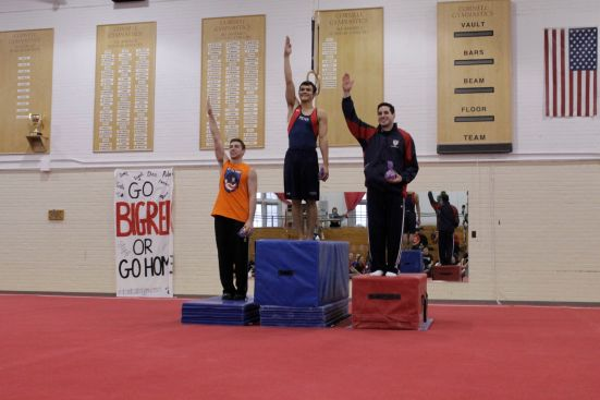 Bryan and Itai got first and second in the all-around